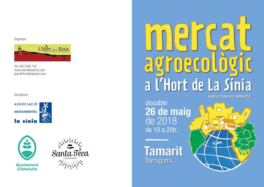 Cartell Mercat Agroecològic Hort de La Sínia